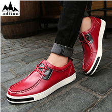 Brand Fashion Casual Shoes Men Urban Comfortable Shoes Lace Up PU Leather Men Shoes
