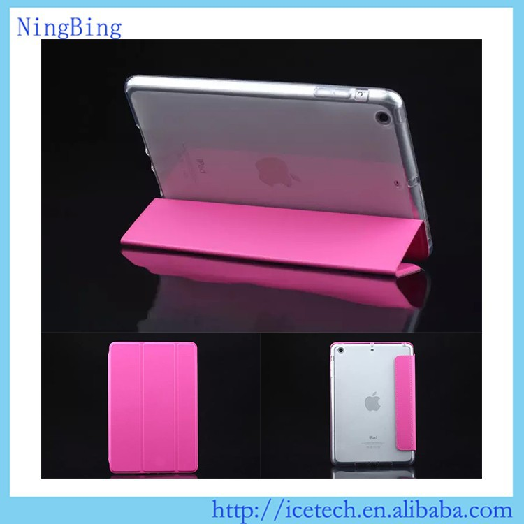3 folders TPU flip minion case cover for <strong>apple</strong> ipad 2 3 4 tablet <strong>apple</strong>