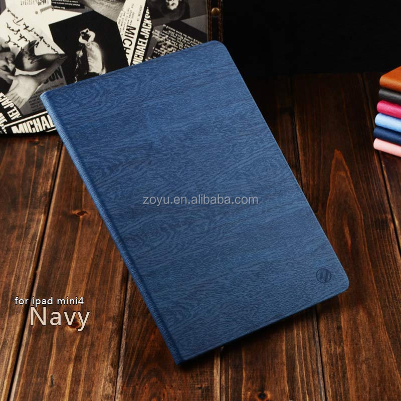 Leather cover in blue for ipad mini 4,custom cover for kids case for ipad mini 4,