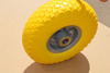 yellow flat free tire pu foam wheel replacement for wheelbarrow and utility carts