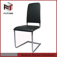 upholstered PU leather and chrome legs dining room furniture dining chair for hot sale