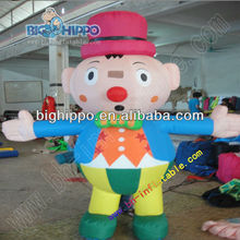 Super popular mini funny inflatable clown costume moving cartoon for wholesale
