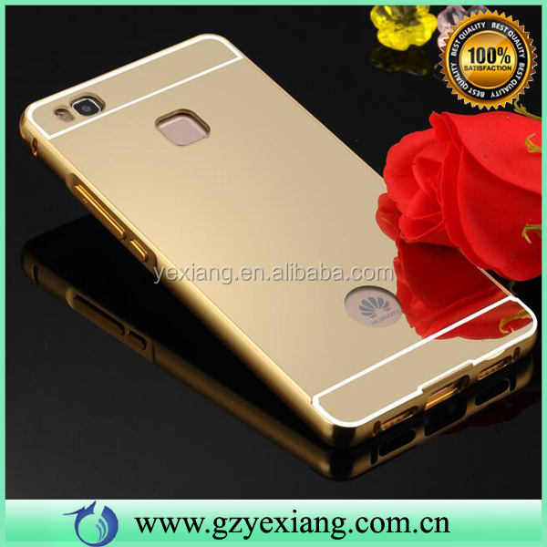Gold Color Cell Phone Aluminum Bumper Case Aluminum Bumper Case For Huawei P9 Lite Mirror Case