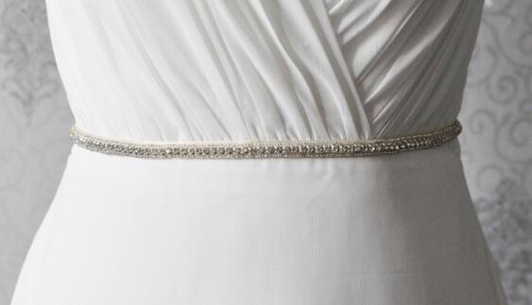 Evening Party Accessories Rhinestone Wedding Bridal Dress Belt Sashes Waistband Handmade Dainty Gown Belt