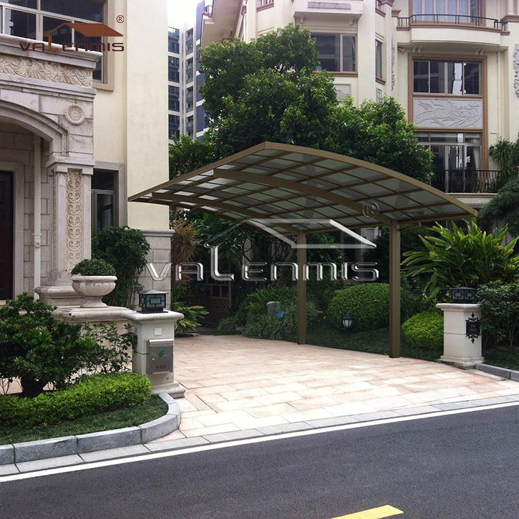 2018 hot sale car parking shelter aluminum frame carport for sun shade