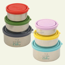 18/8 Stainless Steel Food Containers with Leak-Proof Lids,stainless steel Bruntmor Trio Nesting food container with custom logo