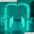 2017 New design wedding decoration LED crystal wedding arch use in wedding stage for wedding decoration with party (MAH-001)