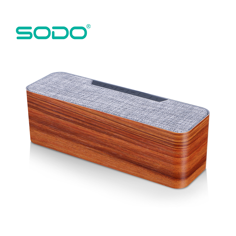 Rechargeable 5W 4 Ohm Private Label Custom Outdoor High Quality Mp3 Oem Passive Wooden Bluetooth Speaker