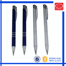 Promotional Christmas Gift Three Rings Metal Barrel Ballpoint Pen