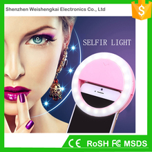 USB rechargeable flash circle led selfie light ring for mobile phone