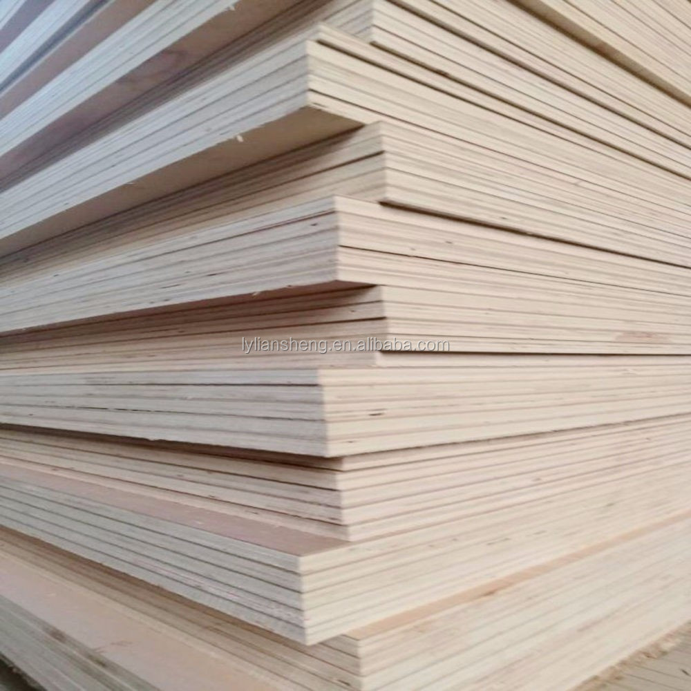 1220*2440 5mm plywood standard size commercial plywood China factory