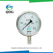 QDG high quality stainless steel pressure gauge