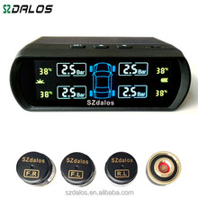Car diagnostic tool tpms solar power auto bluetooth tyre pressure gauge with external sensors