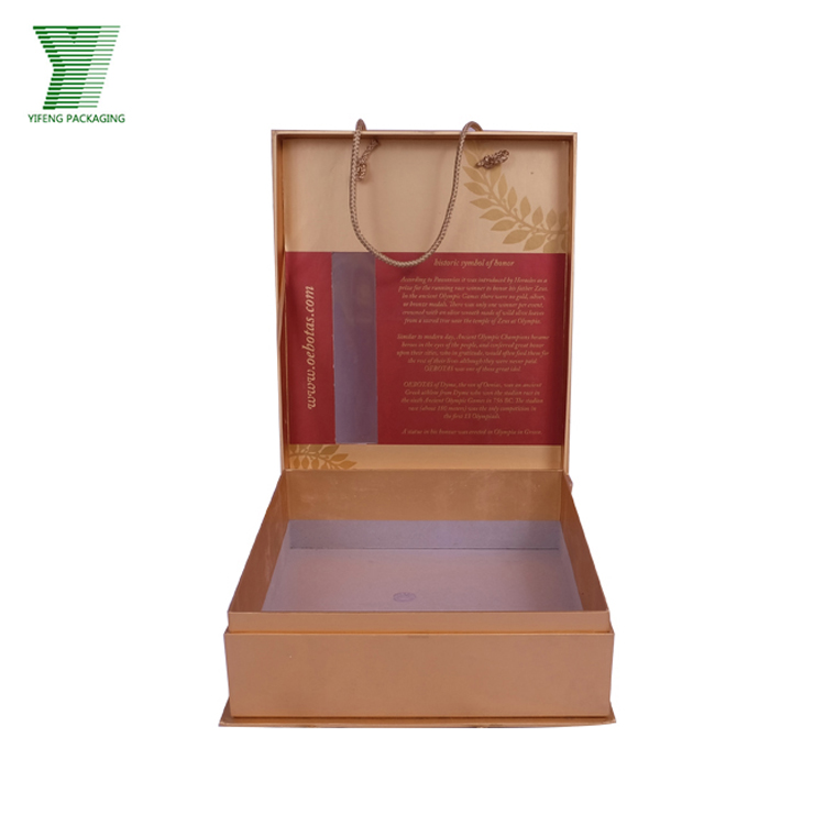 Hot Selling Olive Oil Packaging Boxes With Custom Logo Printing Flip Handle Paper Box