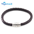 2018 New Design China Wholesale fashion mens bio magnetic leather bracelet