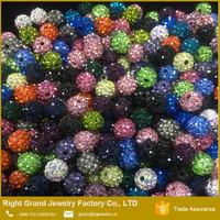 China Jewelry Beading Shamballa Lose Beads Flat Jewelry Crystal Beads For Bracelet