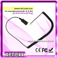 Phone call centre accessories coiled cord