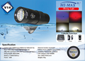 Diving Underwater Led Video Light flashlight for Photography Wide Flood