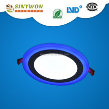 Sinywon Hot Sale Round 16w Double Color LED LUX Down Light