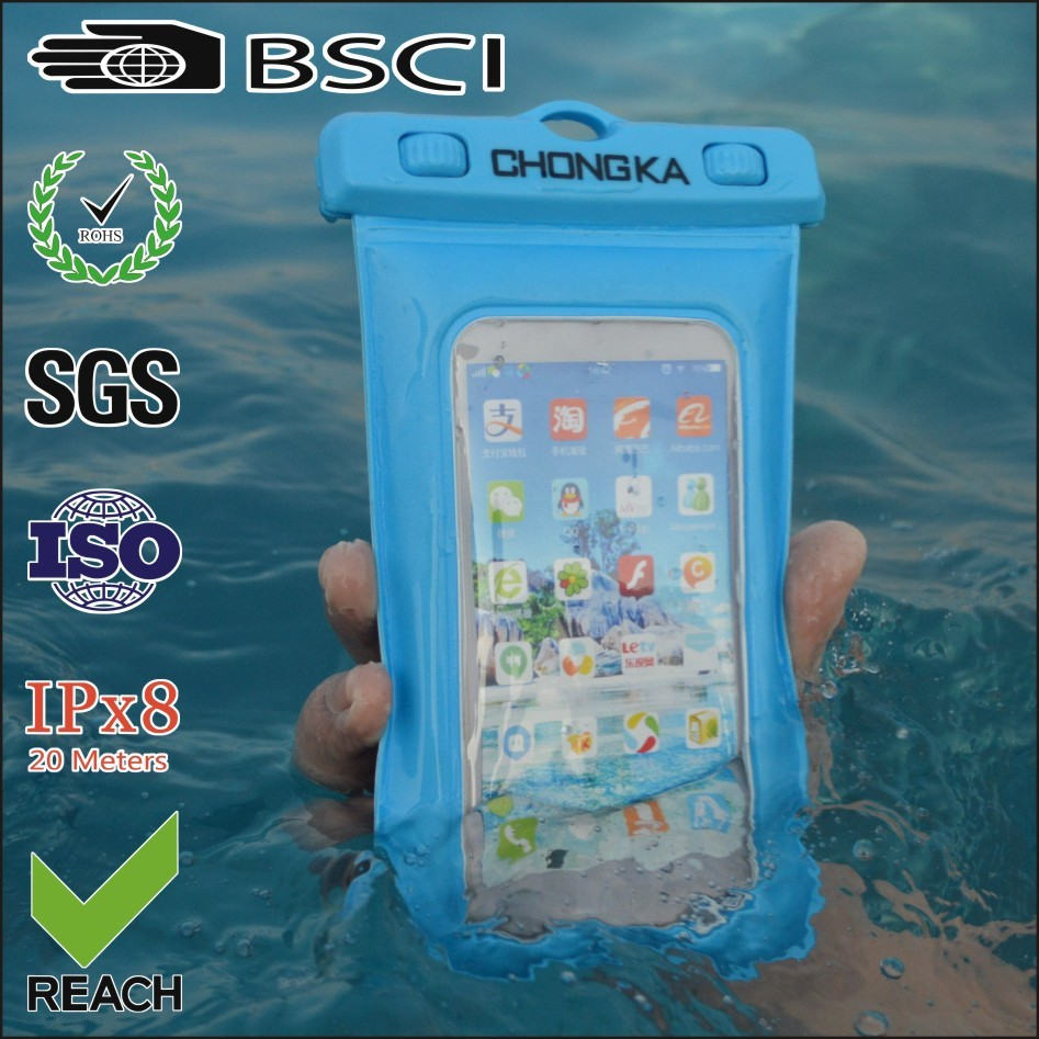 Cheap pvc waterproof dry bag for smart phone