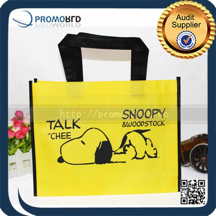 Lovely Snoopy Recyclable PP Non Woven Shopping Bag