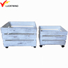 rustic white wooden crate rectangular patio flower boxes