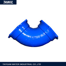 Shanxi Factory Saling Ductile Iron 90 Deg Double Flanged Bend With Puddle Flange