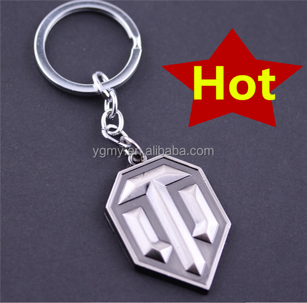 Online Game World of Tanks WOT Metal Keychain Pendent For Men's Key Chain Key Ring Gift