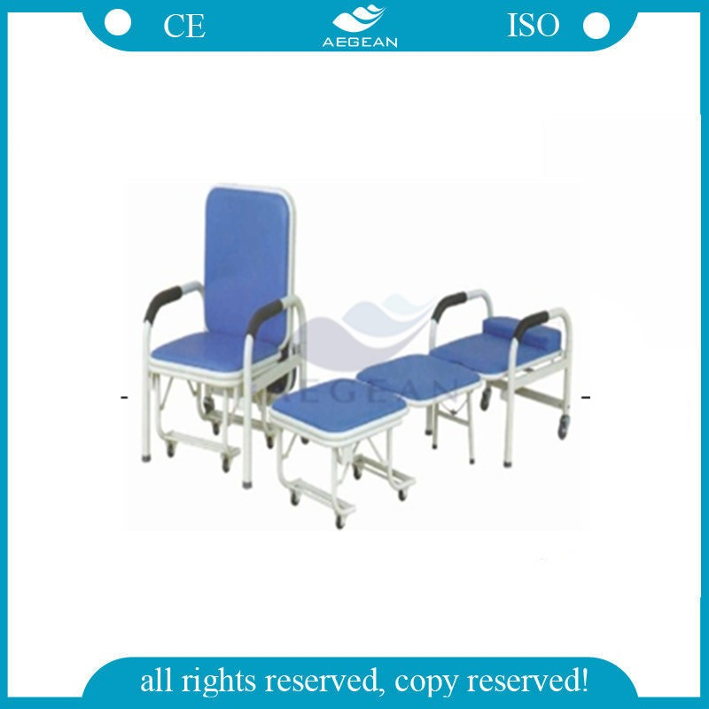 AG-AC004 hospital steel patient room used accompany medical bed chair