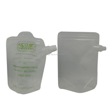 Bio degradable knows aluminum foil material pouch for import soft drinks packaging