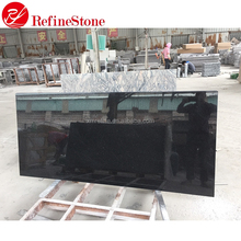 High quality polished black galaxy 2 cm granite slab for sale