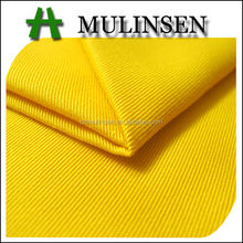 Mulinsen Textile High Quality Solid Dyed Yellow Color Woven 65/35 Poly/Cotton Twill Fabric For Pants