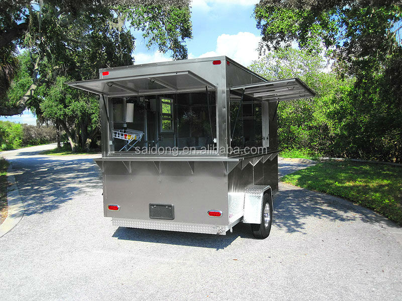 Popular Using Mobile Single Axle Small Chili Hot Dog Food Trailer ice cream vending trailer