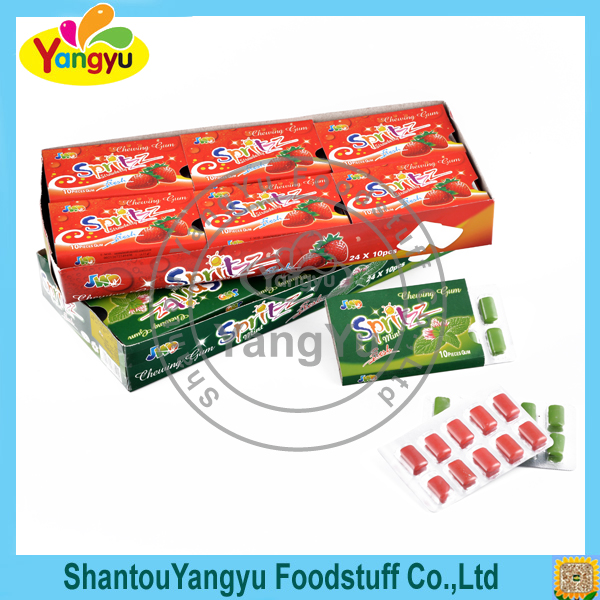 Cube chewing gum fruity mints coffee flavors sweet chewing gum candy