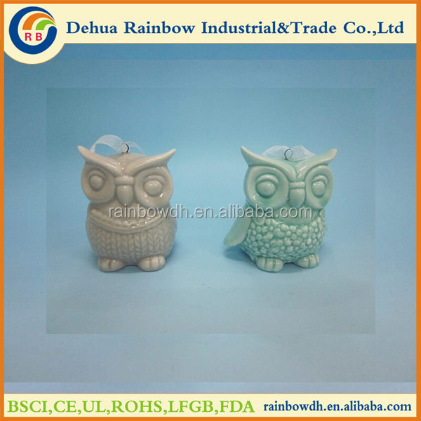 hot selling porcelain owl hang decoration
