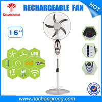 16 Inch Industrial Floor Fan With 4pcs led Rechargeable Stand fan