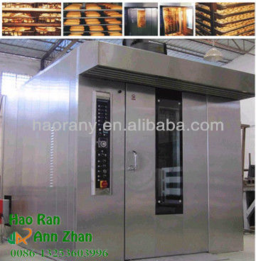 Automatic stainless steel gas rotary convection oven for sale