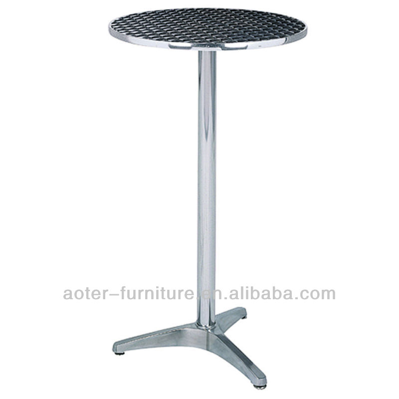 Stainless steel top stand up aluminium folding long high bar table