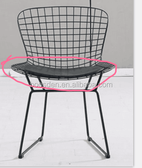 new design plastic transparent red dining chair BSD-251201