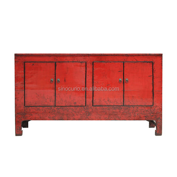 Asian red Chinese sideboard furniture classic sideboards media cabinet