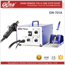 NEW 2016 Daina Mobile Phonehot CCD Camera Hot Air BGA Air Blower Plastic DN 701A Rework Station Free To Replacement Of All Parts