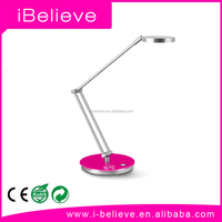 Adjustable Double colour temperature 9W Silver Nail Art LED Table Lamp metal table lamp
