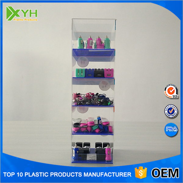 acrylic mobile phone accessories counter display stand