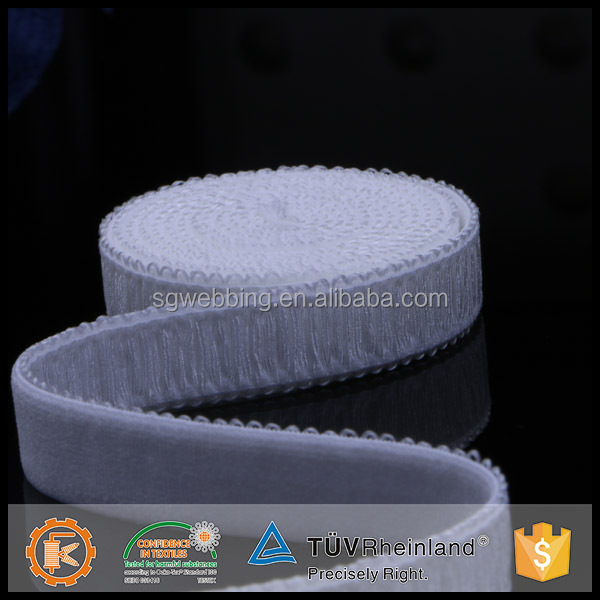 Material customized size 1.25 inch lingerie elastic webbing in low price