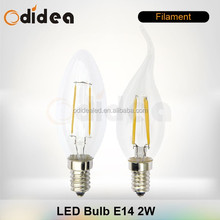 C35 2W 4W E14 E12 Filament 2W dimmable LED candle lights bulbs lamps