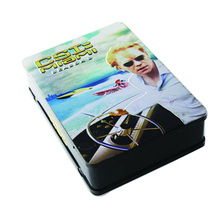 Rectangular Shape Cd/dvd Tin Box Packing With A Line Handle