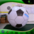 Large Inflatable Helium Football Floating , Advertising Inflatable Air Tight Soccer Balloon for Parade