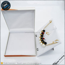 Classic Hinged Plastic Velvet Pad With Stand Ring Earring Necklace Jewelry Box Set
