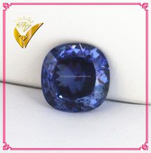 natural diamond cutting tanzanite fat square shaped lab created cz stone for pendant