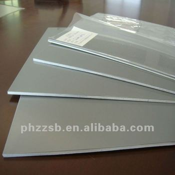 white recycled 3mm thick abs plastic sheet